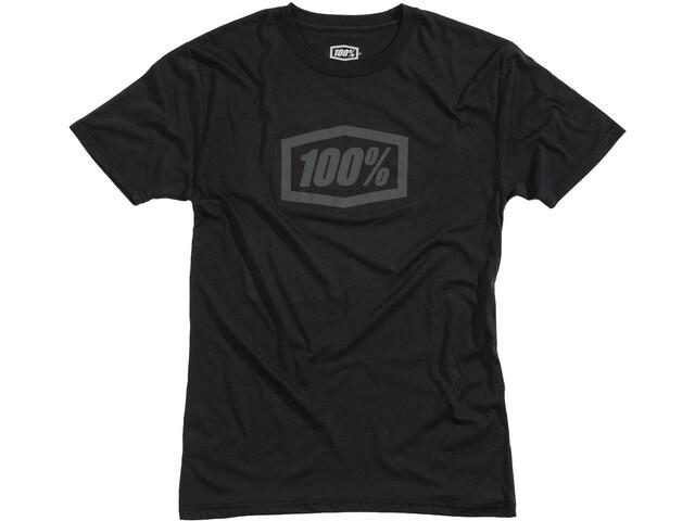 100% Essential Tech T-shirt Heren, black/grey